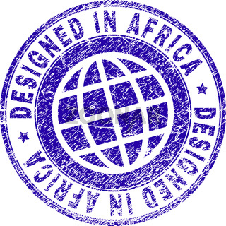 Grunge Textured DESIGNED IN AFRICA Stamp Seal