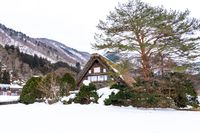 Winter season at Shirakawa-go village, Gifu, Japan