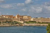 Old beautiful palace in Valletta in Malta