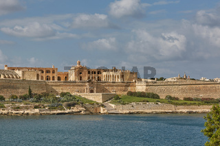 Old beautiful palace in Valletta in Malta