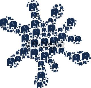 Spot Figure of Elephant Icons