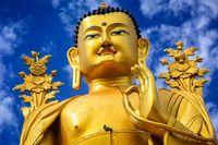 Buddha Maitreya statue in Ladakh, India