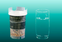 Water purification filter and a glass of clean drinkable water