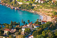 Cap Martin near Monaco idyllic bay and beach view