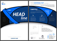 Flyer Template with Blue Bent Strip