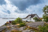 Gebäude in Mollösund in Schweden