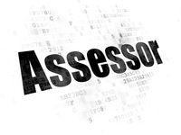 Insurance concept: Assessor on Digital background