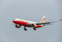 Lucky Air Airbus A330 commercial airplane against sky