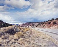 Mountain Road in New Mexico, USA.