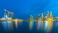 Panorama view of Singapore city skyline