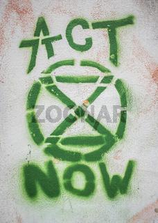 Graffiti Of Extinction Rebellion Logo