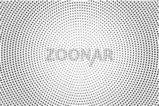 Abstract monochrome halftone pattern. Futuristic panel. Grunge dotted backdrop with circles, dots, point.