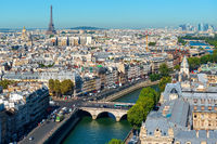 Paris cityscape and landmarks