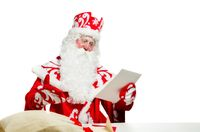 Santa Claus isolated on white background. Ded moroz