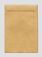Large A4 brown paper enveloppe mockup template