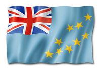 Tuvalu flag isolated on white