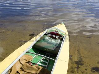 kayak on sandy beach