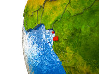Equatorial Guinea on 3D Earth