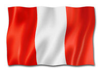 peruvian flag isolated on white