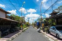 Small street in Ubud, Bali