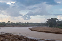 Thunderstorm on the Ewaso Ng'iro River in the savannah