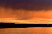 Abendstimmung an See in Värmland - Schweden
