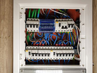 Switch board with automatic switchers and fuses