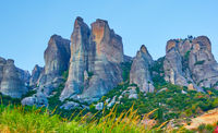 Meteora rocks in Greece