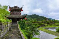 South Great Wall of China near ancient town Fenghuang - Hunan China