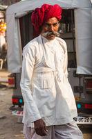 Indian man at the Pushkar Fair