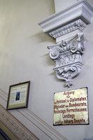 historische Kennzeichnung für eine spezielle Treppe, Berliner Do