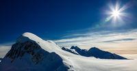 The Alpine region of Switzerland.