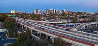 Aerial Perspective Highway 95 Taking Comutters Through Wilmington Delaware