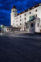 Bratislava Castle At Night In Slovakia