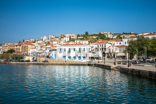 Old port of Pylos town in Messenia, Peloponnese, Greece
