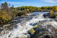 Foam water of the Winnipeg River