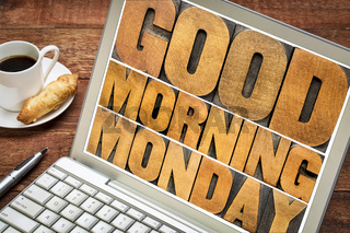 Good Morning Monday on tablet