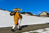 Schellenklaus, Silvesterchlausen am Alten Silvester, Urnäsch, Schweiz