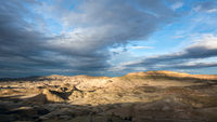 Panoramic view of the Petrified Forest Natural Reserve, Sarmiento, Patagonia, Chubut, Argentina