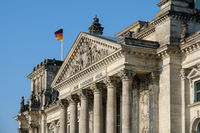 The Reichstag building, the german parliament in Berlin
