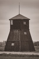 Guard tower in the former concentration camp Majdanek