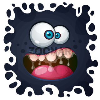 Cute, funny, crazy monster character. Halloween illustration. Printing on T-shirts.