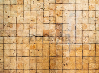 Square wood blocks wall texture