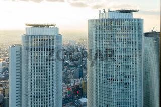 View of Nagoya city downtown in Nagoya, Japan