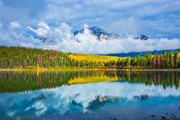 Charming autumn in the Rocky Mountains