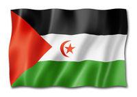 Sahrawi flag isolated on white