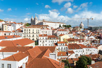 View over the roofs of Alfama in the city of Lisbon