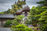 Building in Kinkaku-ji temple, Kyoto, Japan
