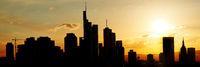 Großstadt Silhouette Skyline von Frankfurt am Main