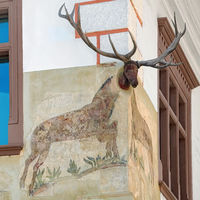 Corner of a House with a Deer Head